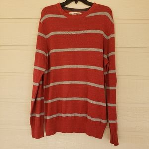 Urban Pipeline Long sleeve Striped Red Sweater L.